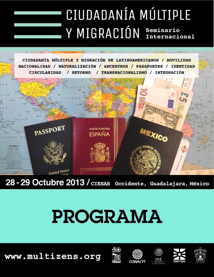 Portada programa seminario ciudadania multiple y migracion